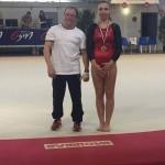 Laury Kinast 1ere et son entraineur Albert Coll